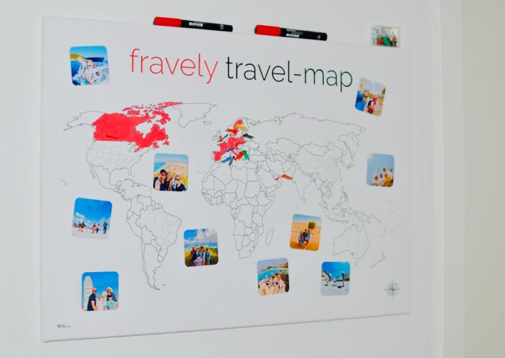 meine-Weltkarte an der Wand