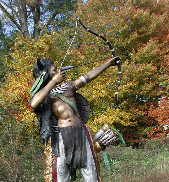 indian with bow and arrows photo page
