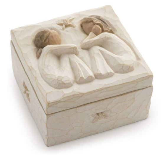 willow tree friendship sculpted hand painted box