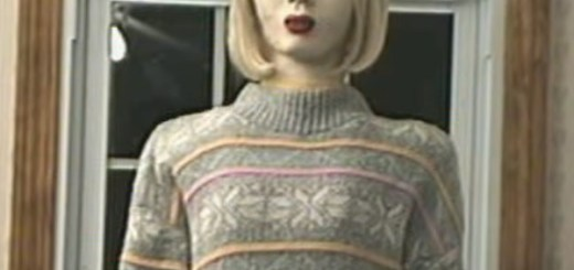 Creepy singing robot mannequin