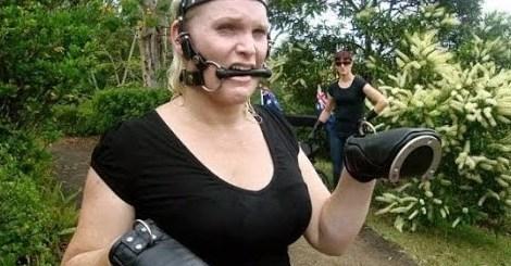 Australian lady dresses up like horse