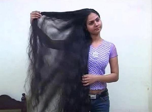 Indian woman long hair
