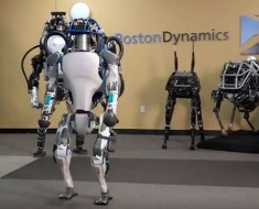 Atlas robot with friends