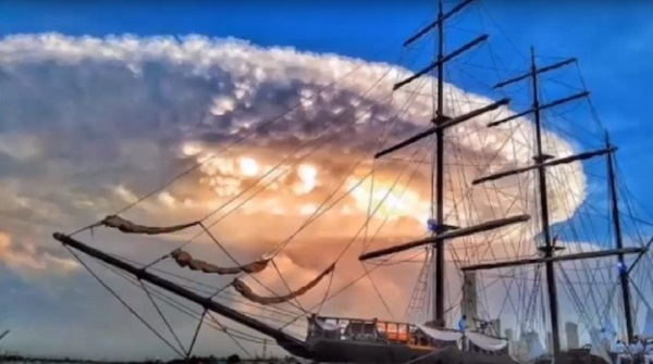 Cloud over boat