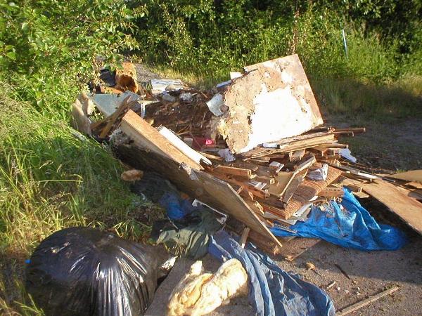 dump trash