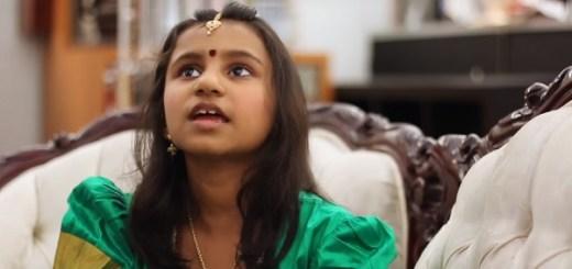 Indian girl demonstrates her third eye gift