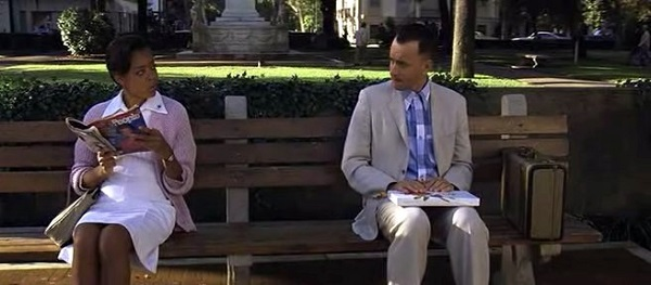 Forrest Gump bench scene