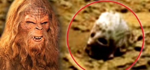 Bigfoot spotted on Mars and skull found