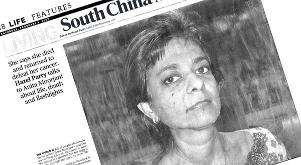 Anita Moorjani newspaper clip