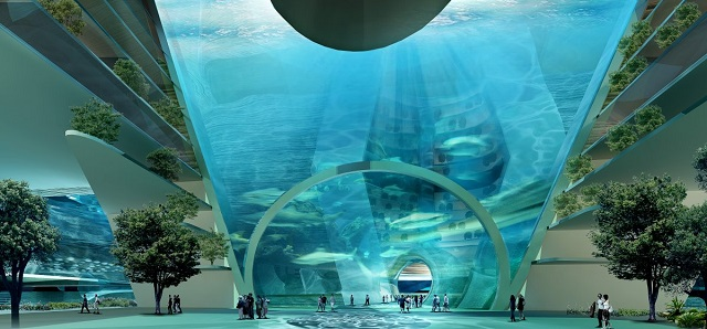 Inside floating city