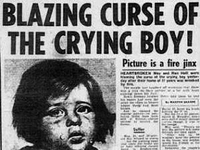 Newspaper The Crying Boy