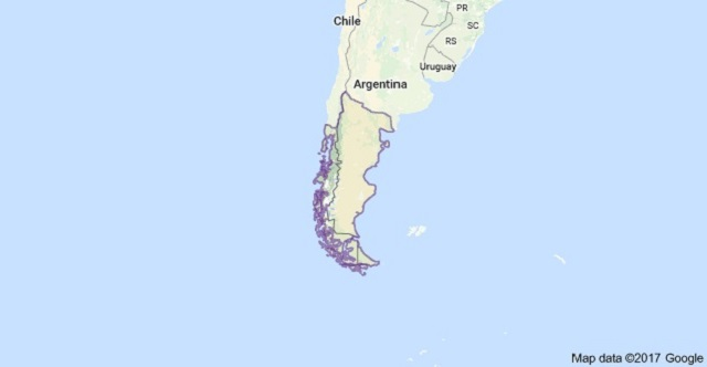Patagonia map