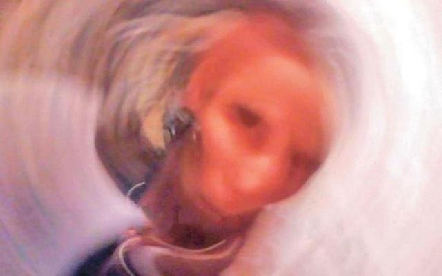 Romanian grandmother selfie photo
