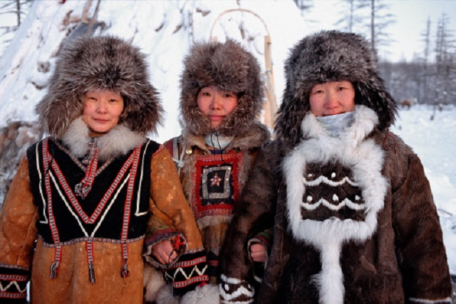 Yakutia Siberia Russia three women