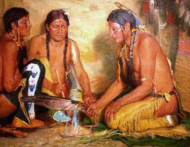 smudging Native Americans