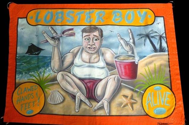 Lobster Boy Circus banner