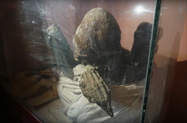 Long neck mummy Peru
