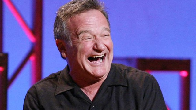 Robin Williams laughing