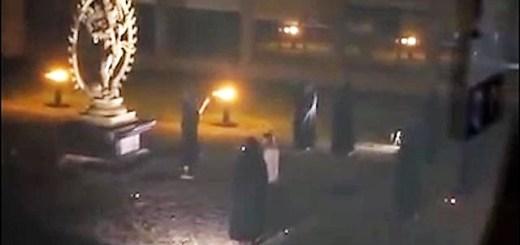Ritual sacrifice astounds viewers at mock CERN ceremony