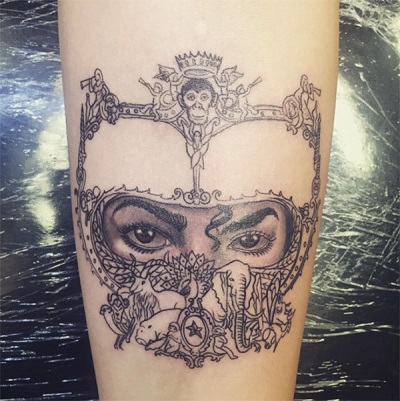 Paris Jackson tattoo of her father Michael Jackson