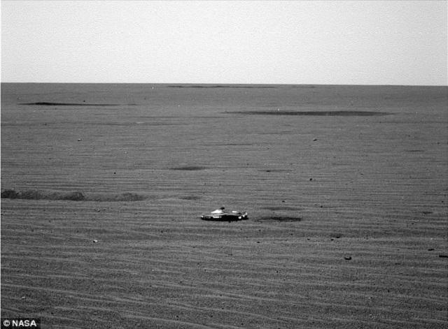 UFO on Mars surface 2017 long shot