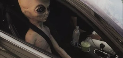Man gets pulled over for speeding with alien passenger doll