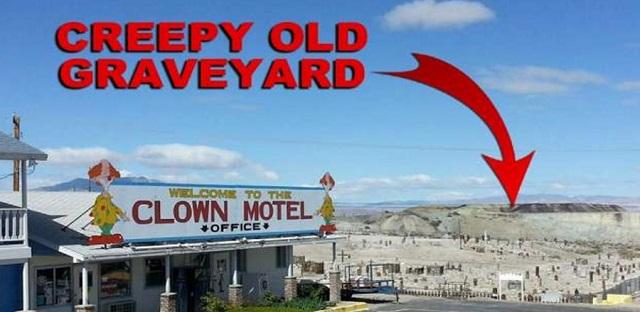 Clown motel and graveyard