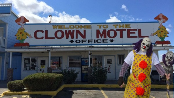 Clown motel office