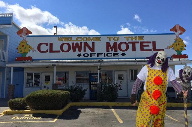 Clown motel office