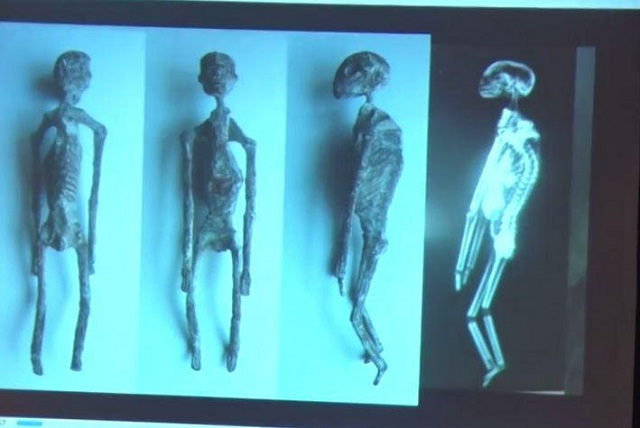 Mummified aliens in Peru