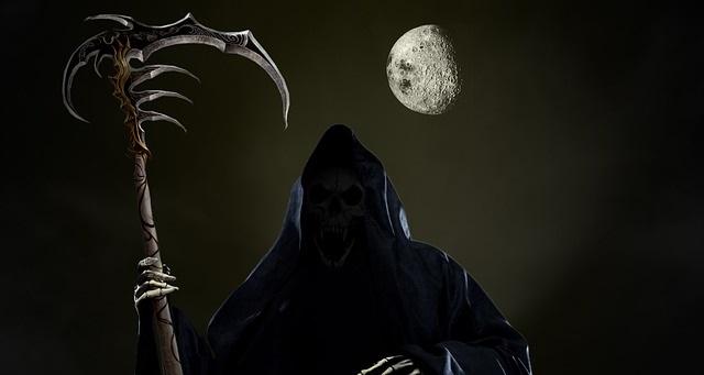 The Grim Reaper at night