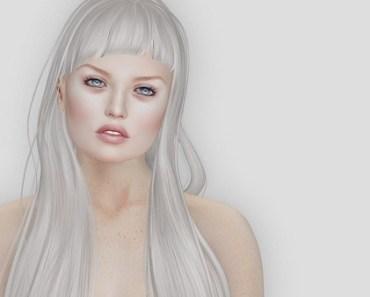 Alien blonde woman drawing