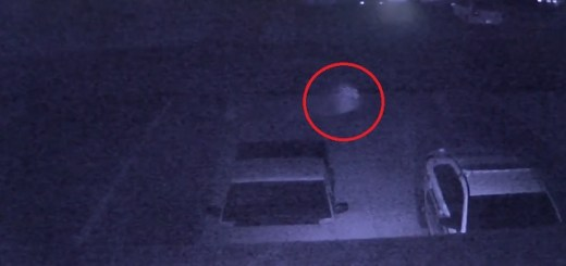 Ghostly entity captured on family's surveillance camera