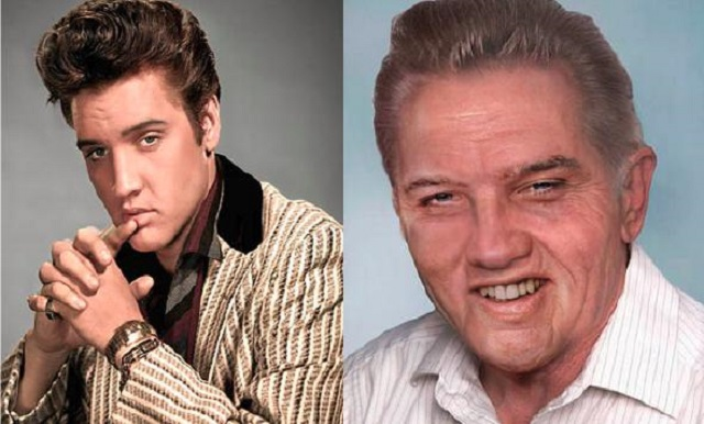Elvis Presley young and old