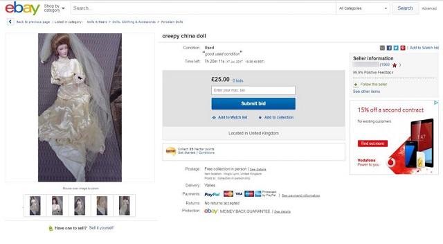 Haunted doll on eBay