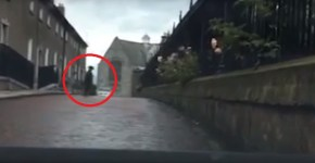 Irish ghost crosses road