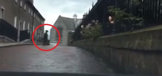 Dash camera captures Irish ghost crossing road