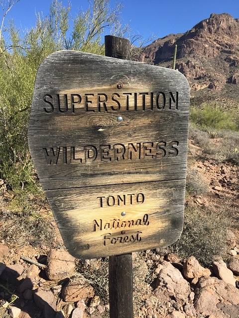 Tonto National Forest sign Arizona