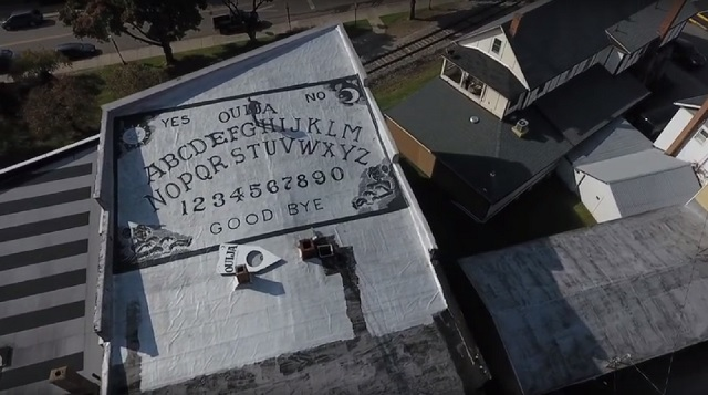 World's largest Ouija board a top of Grand Midway Hotel