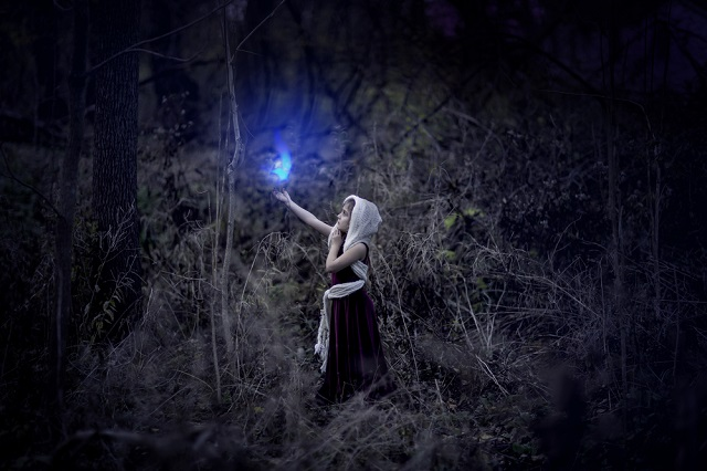 Image: whimsyroots.com Little girl and Will o the wisp