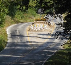 Nancy Kerlin grave site middle of road