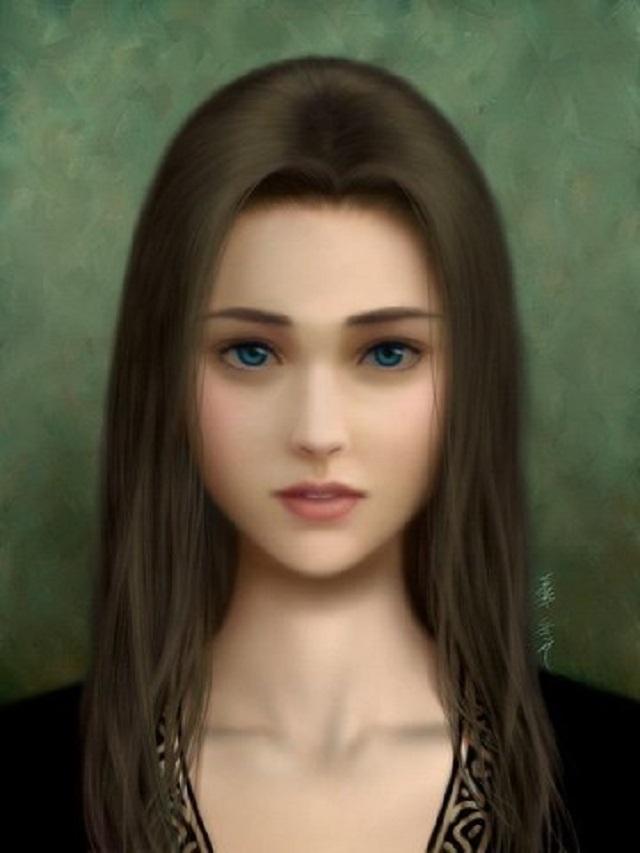 Suicide portrait painting