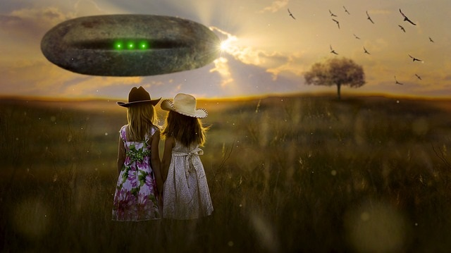 UFO spotted by two little girls