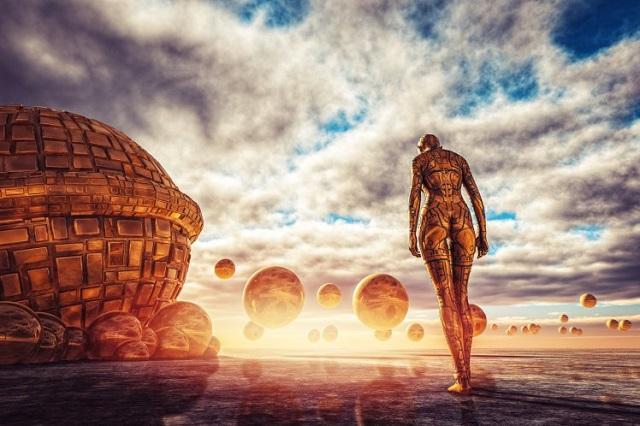 Aliens are actually immortal robots