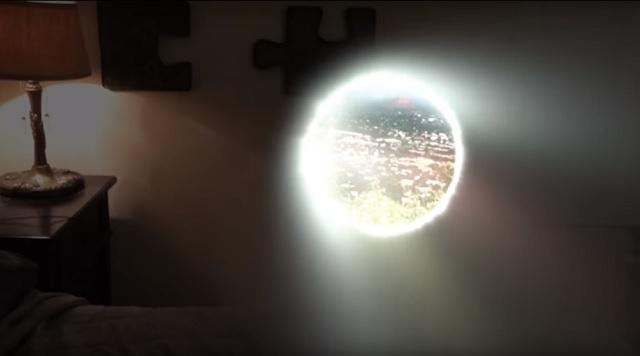 Man opens up portal