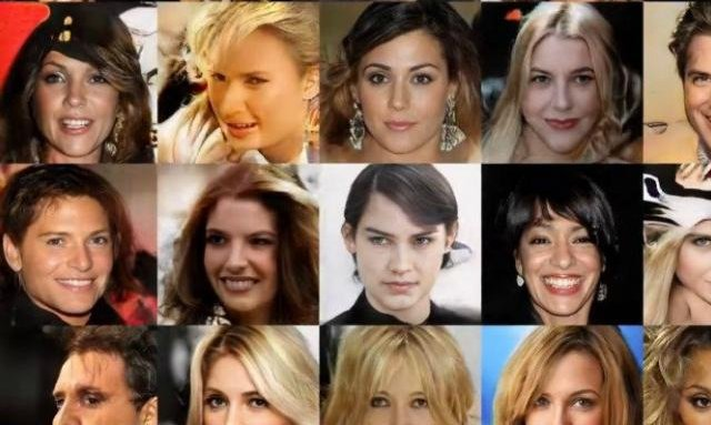 AI generated human faces