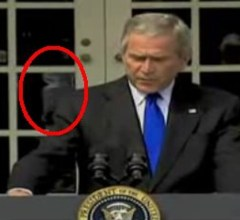 George Bush controlled by alien at White House