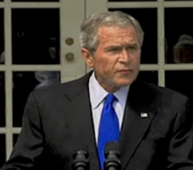George Bush controlled by alien