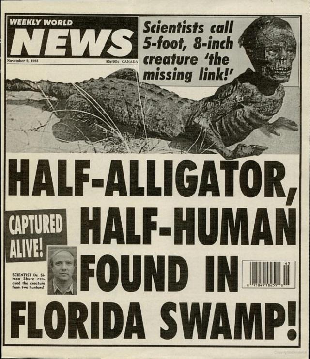 Halfhuman alligator hybrid