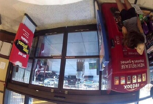 Redbox girl caught by security camera